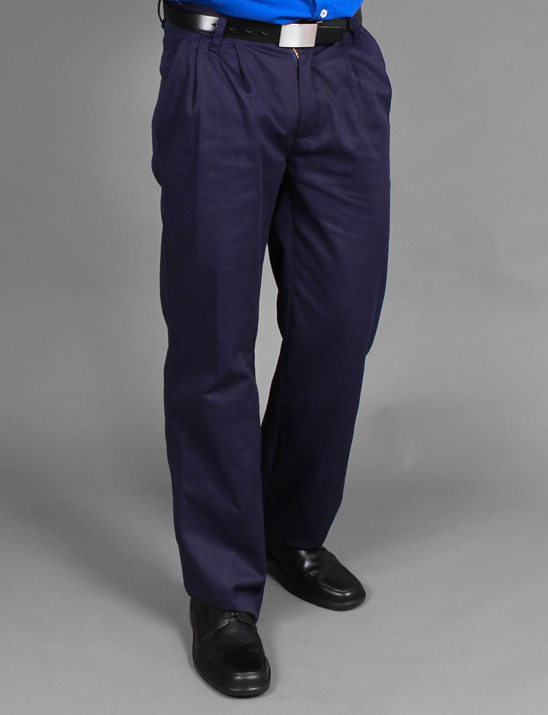 Azul Casual Uniformes Color Pantalón En Alfa Marino Cambridge Tela mOyvNn80w